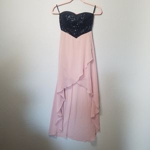Evening high low/ Prom strapless dress